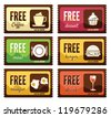 Free labels - stock vector