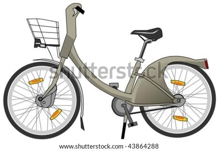 free parisian bike - stock vector
