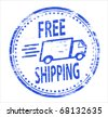 free post rubber stamp - stock photo