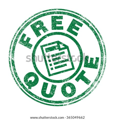 Free Quote stamp - stock vector