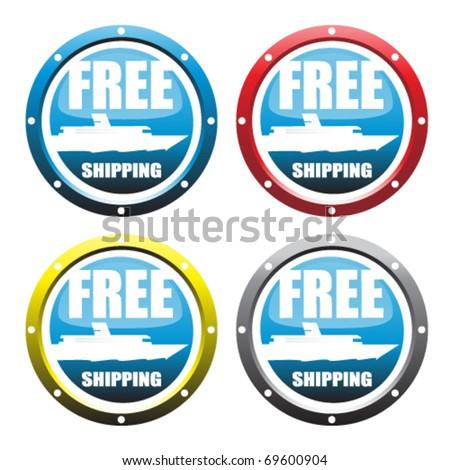 Free shipping - stock vector