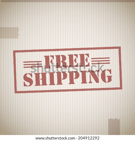 Free shipping cardboard box texture - stock vector
