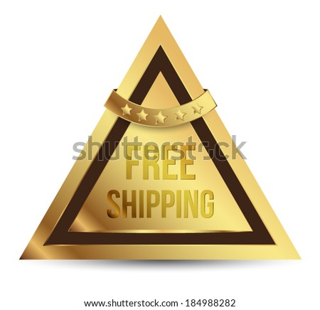 Free shipping gold sticker with star ribbon.