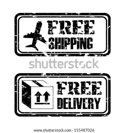 Free shipping seal over withe background vector illustration - stock vector