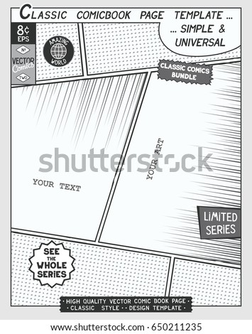 Free Space Comic Book Page Template Stock Vector Hd Royalty Free