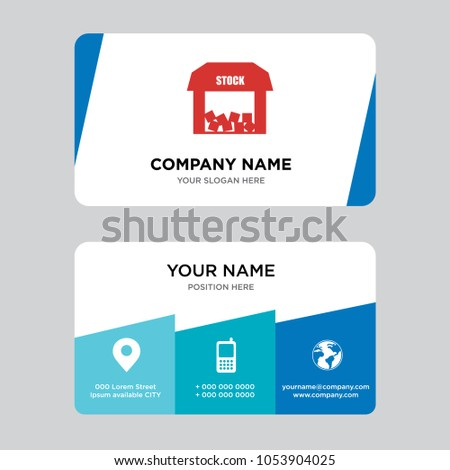 Free stock business card design template stock vector 1053904025 free stock business card design template visiting for your company modern creative and reheart Choice Image