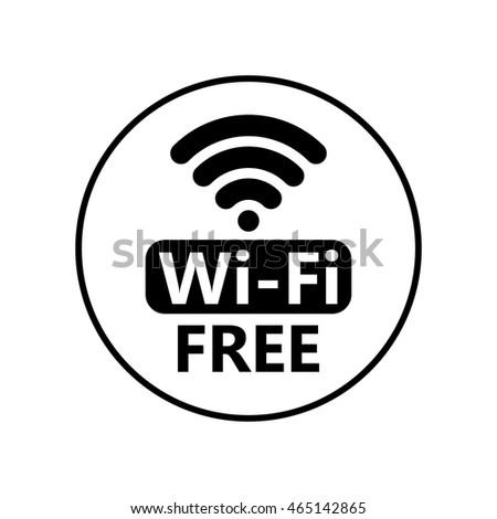 free wifi icon symbol vector circle stock vector royalty free