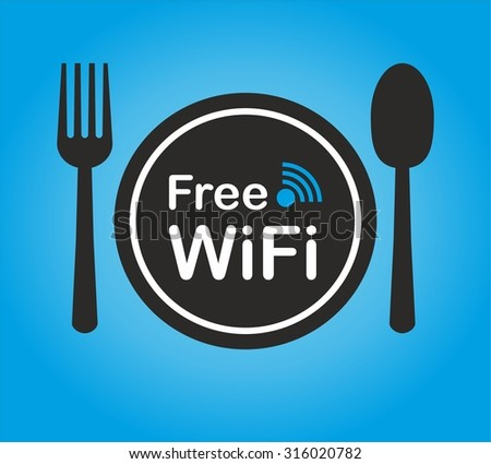Free wifi zone icon concept restaurant stock vector for Localisation wifi
