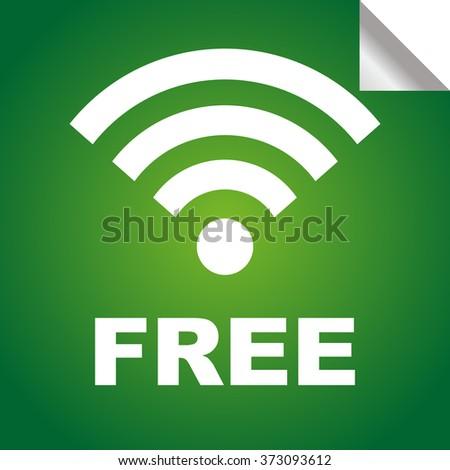 Free wireless sticker icon, vector - stock vector