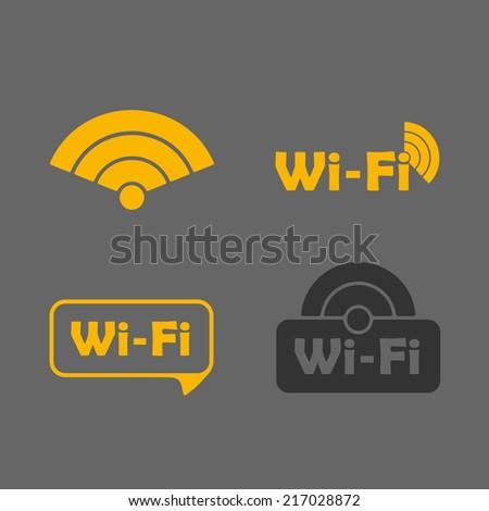 Free Zone wi-fi, sticker - stock vector