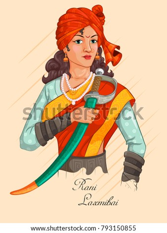 Freedom fighter national hero india rani stock vector 793150855 freedom fighter and national hero of india rani laxmibai vector illustration altavistaventures Choice Image