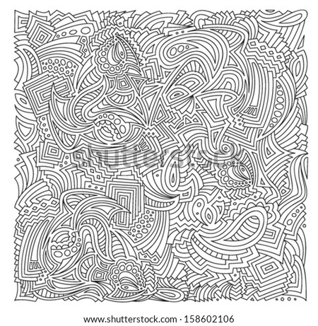 Freehand /Hand-drawn doodles Zentangle pattern, vector - stock vector