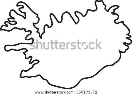 Freehand Iceland Map Sketch On White Stock Vector (Royalty Free ...