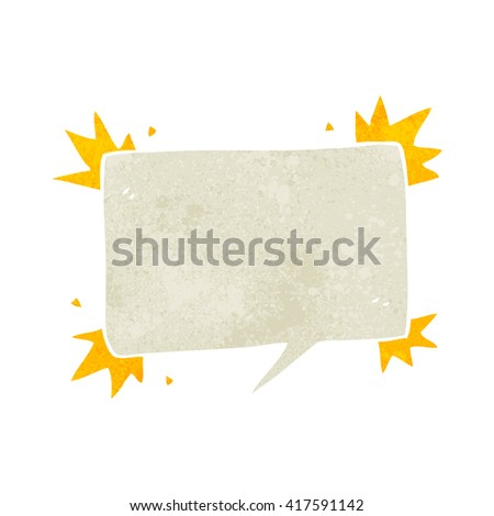 freehand retro cartoon speech bubble symbol - stock vector