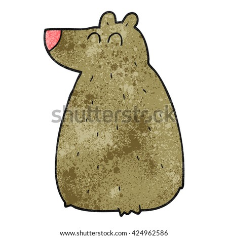 freehand textured cartoon bear