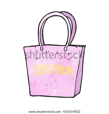 freehand textured cartoon shopping bag
