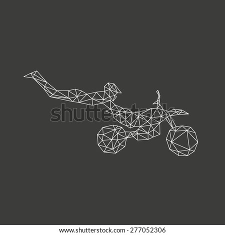 Freestyle motocross abstract, vector illustration - stock vector