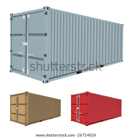 freight container vector - stock vector