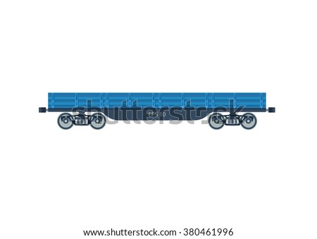 Freight railroad car freight a boxcar  vector illustration isolated on a white background