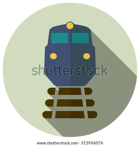 freight train icon - stock vector