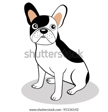 Bulldog Silhouette Vector French Bulldog Stock Vector