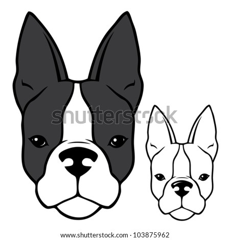 how to draw a french bulldog head