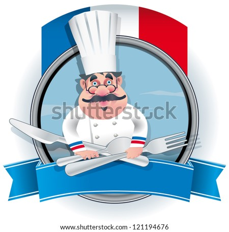 French chef banner - stock vector