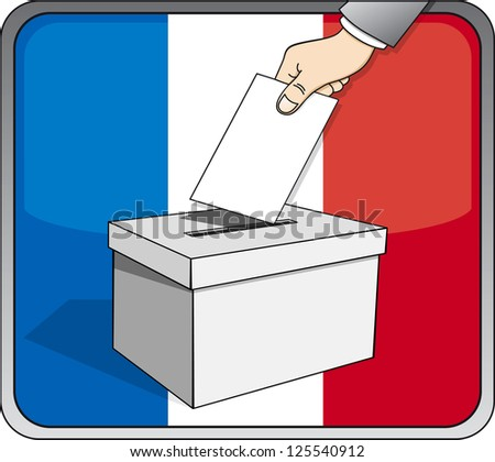French elections - ballot box