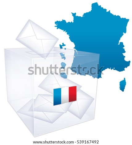 French elections. Political vote issue icon.