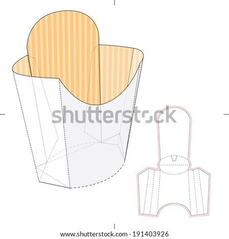 Die stock photos images pictures shutterstock for French fries packaging template