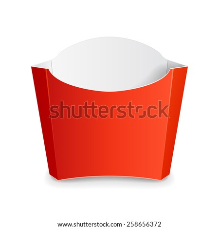 french fries box template pdf