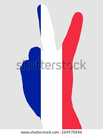 French hand signal - stock vector