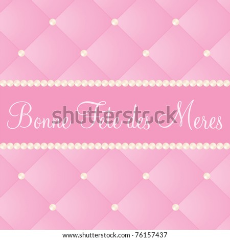 French mother's day card in vector format. - stock vector