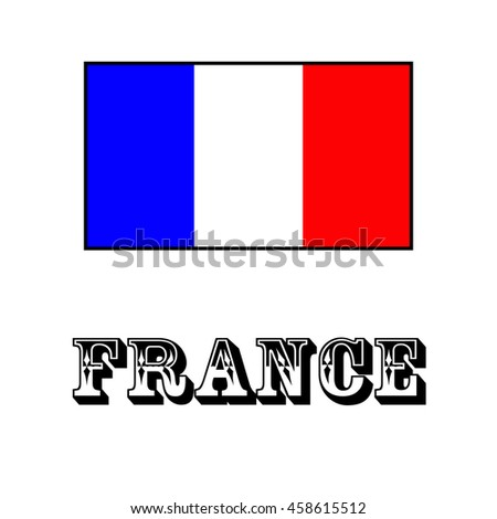 French national flag - stock vector