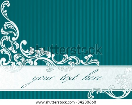 French retro banner in green (vector); a JPG version is also available - stock vector
