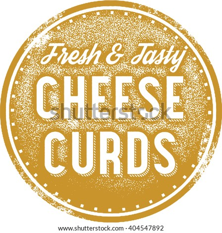 Fresh Cheese Curds Menu Stamp - stock vector