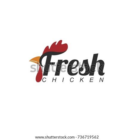 Fresh Chicken Meat Logo Stock Vector 736719562 - Shutterstock