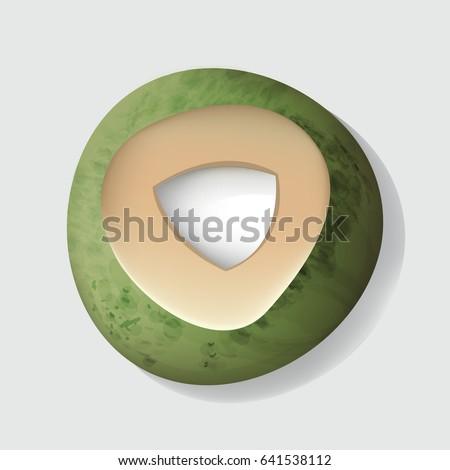 Fresh Cut Open Coconut Vector Illustration