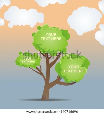 Fresh green leaves on natural background. vector illustration - stock vector