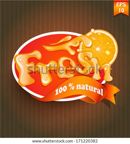 Fresh label, badge or seal - stock vector