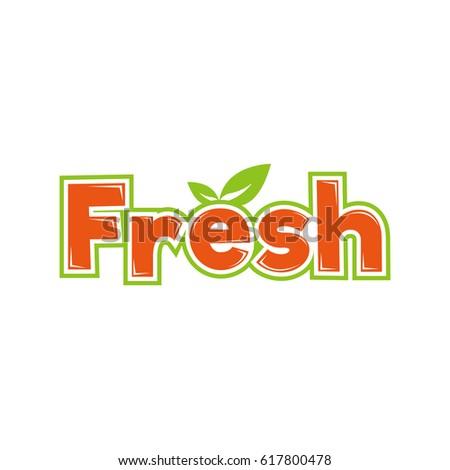 fresh logo logotype stock vector royalty free 617800478 shutterstock