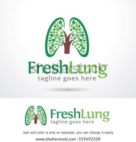 fresh lung logo template design vector stock vector 559692328, Powerpoint templates