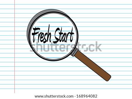 Fresh Start Concept. Vector - stock vector