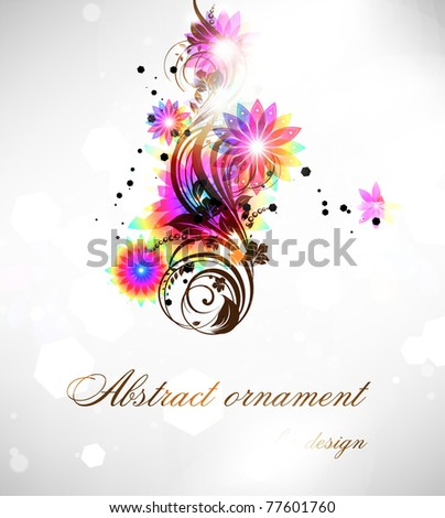 Fresh vector illustration of floral ornament for summer design with flowers.