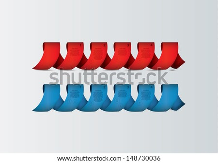 Fresh vector template with space for your content. Colorfully twisted ribbon. Can be use as info graphic.  - stock vector