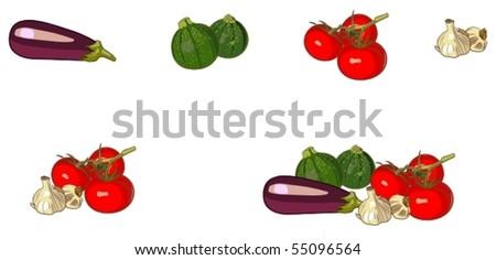 fresh vegetables - stock vector