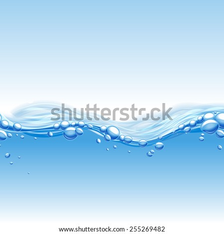 fresh wave water banner - stock vector