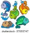 Freshwater fishes collection - vector illustration. - stock vector