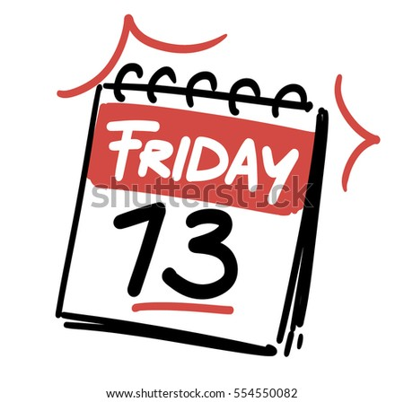 friday 13 th calendar date stock vector 554550082 shutterstock rh shutterstock com friday the 13th clip art free friday the 13th mask clipart
