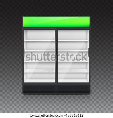hand drawn fridge double fridge glass door mockup on stock illustration 346111613